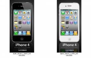 Скачать бесплатно Apple iPhone 4 Black & White - 2 PSD